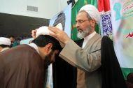 طلاب مدرسه امام کاظم علیه السلام معمم شدند  + تصاویر