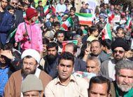 گزارش تصویری از حضور باشکوه و تماشایی مردم میبد در راهپیمایی بیست و دوم بهمنماه ۱۳۹۶