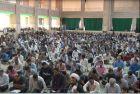 مراسم پرفیض دعای عرفه در مصلی آیت الله اعرافی برگزار شد